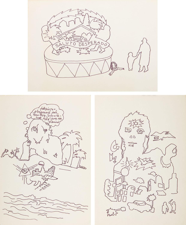Zestaw trzech rysunków, 1984 r.