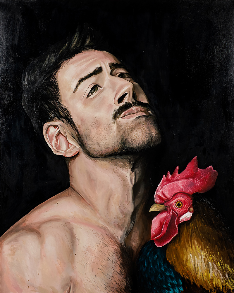 Man and the rooster, 2019