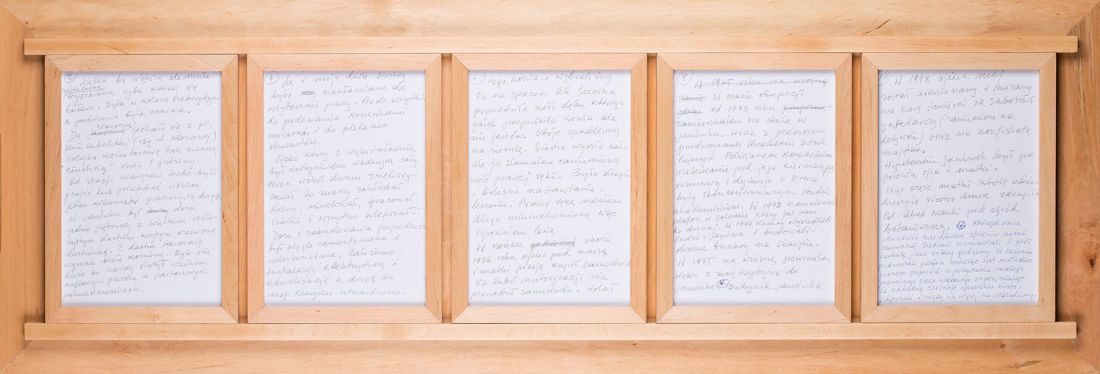Rękopis życiorysu, 2013
