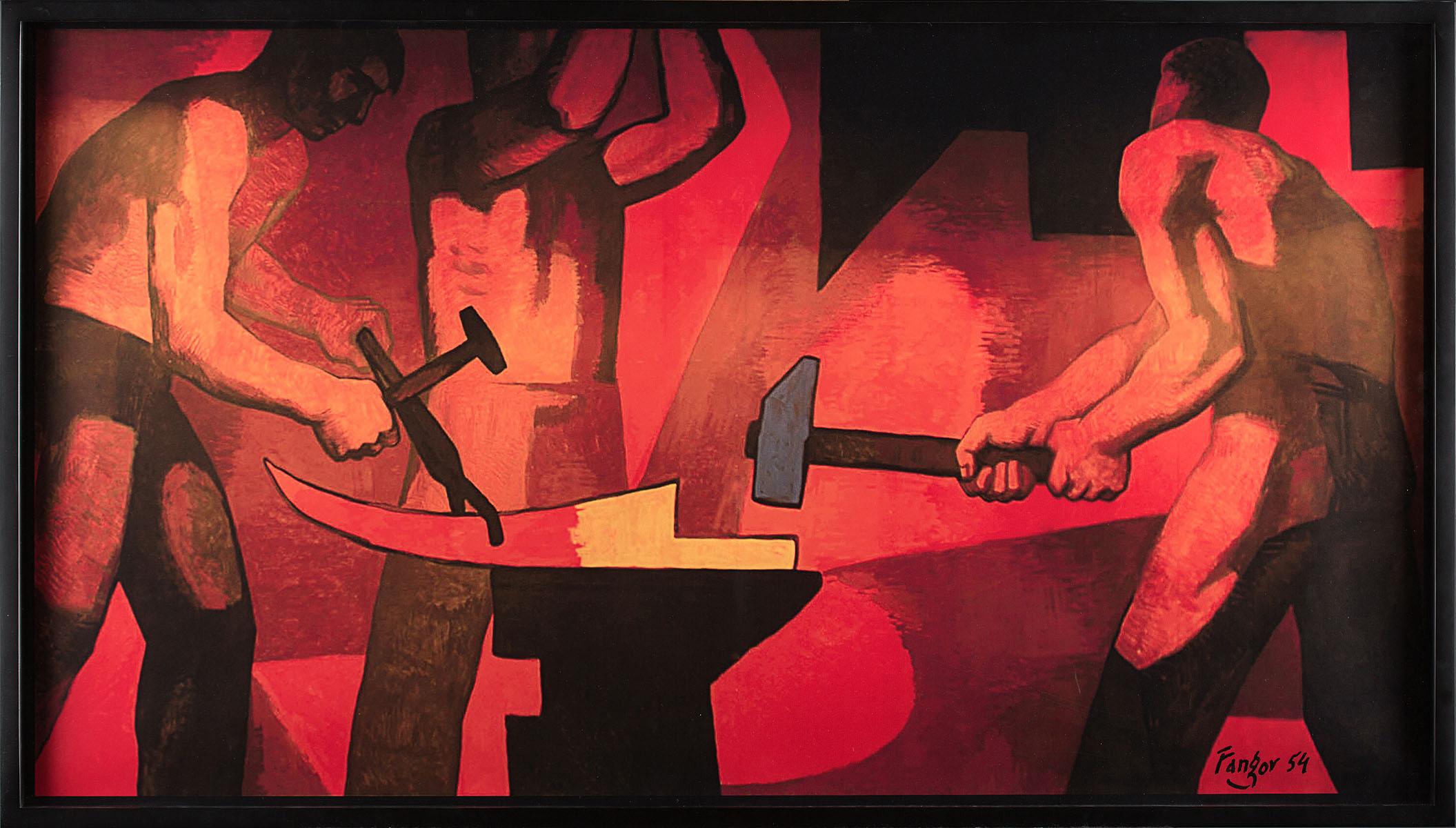 Kucie kos, 1954