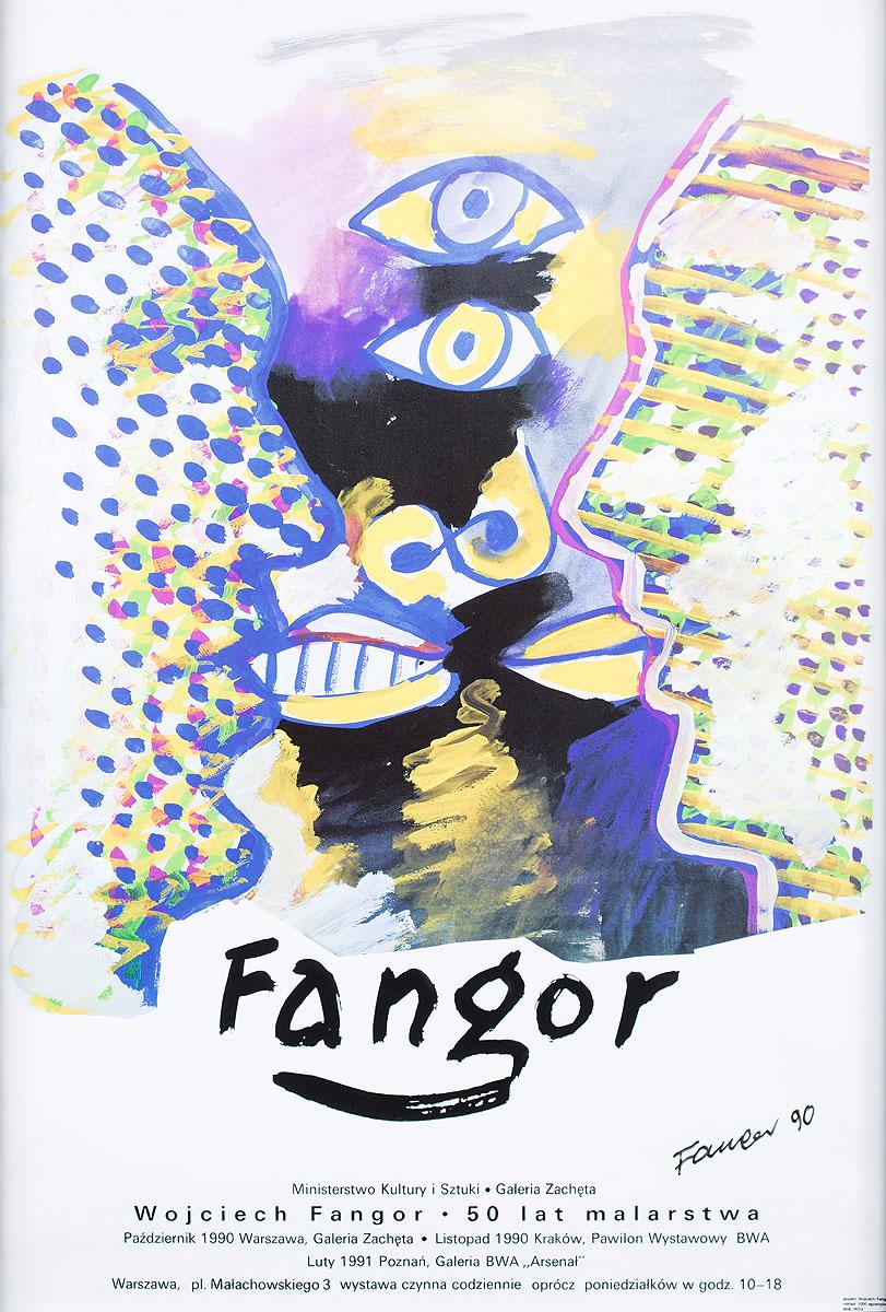 Wojciech Fangor - 50 lat malarstwa, 1990