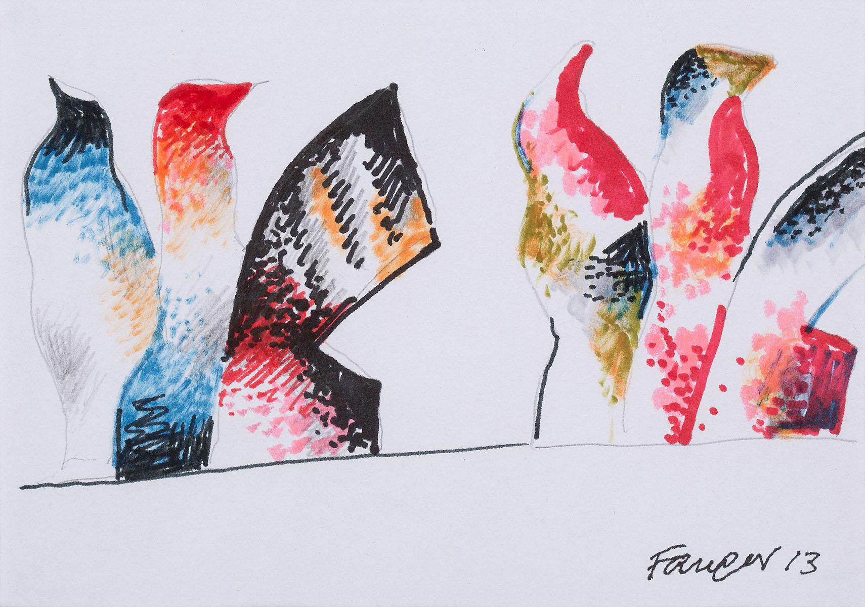 Projekt rzeźby Ognisty ptak 2, 2013