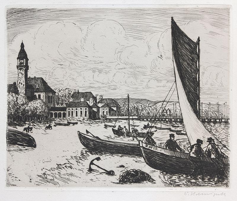 Plaża w Sopocie, 1923 r.