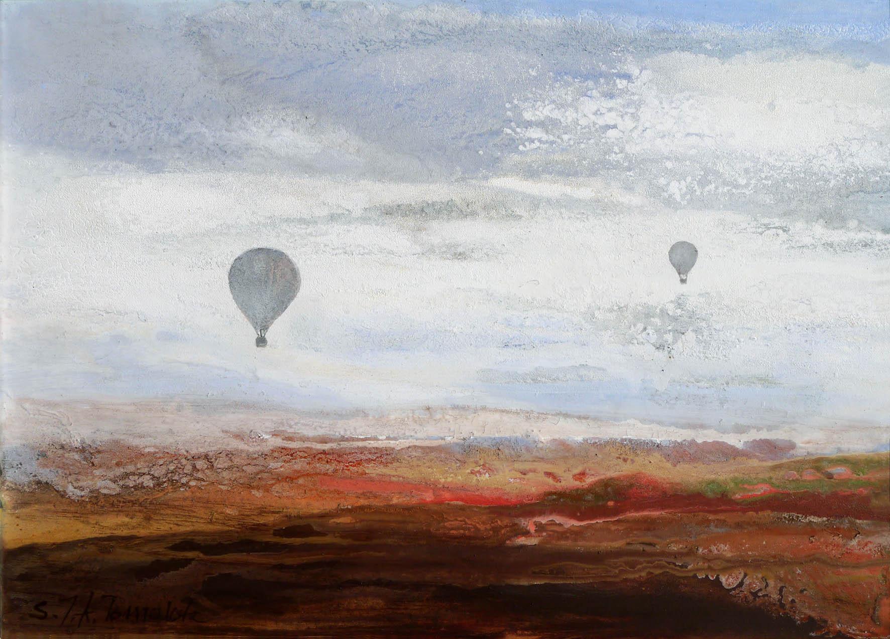 """Fragment z cyklu """"Niebo i ziemia"""", 2019"""