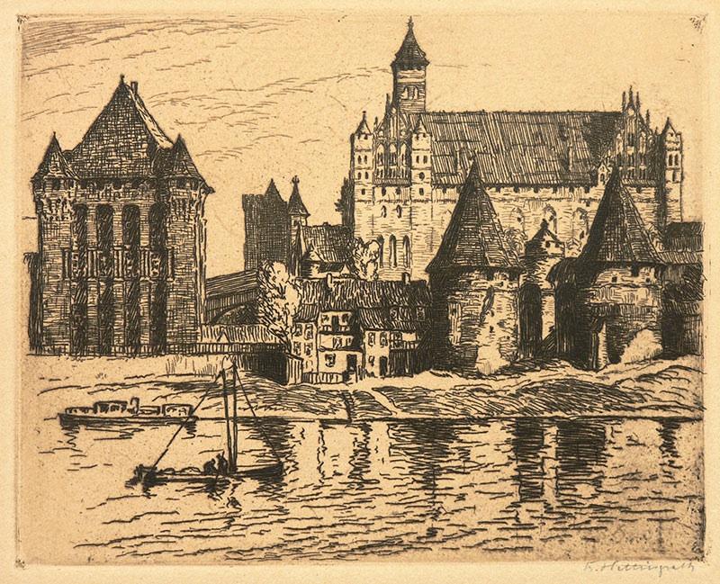 Widok zamku w Malborku od strony Nogatu