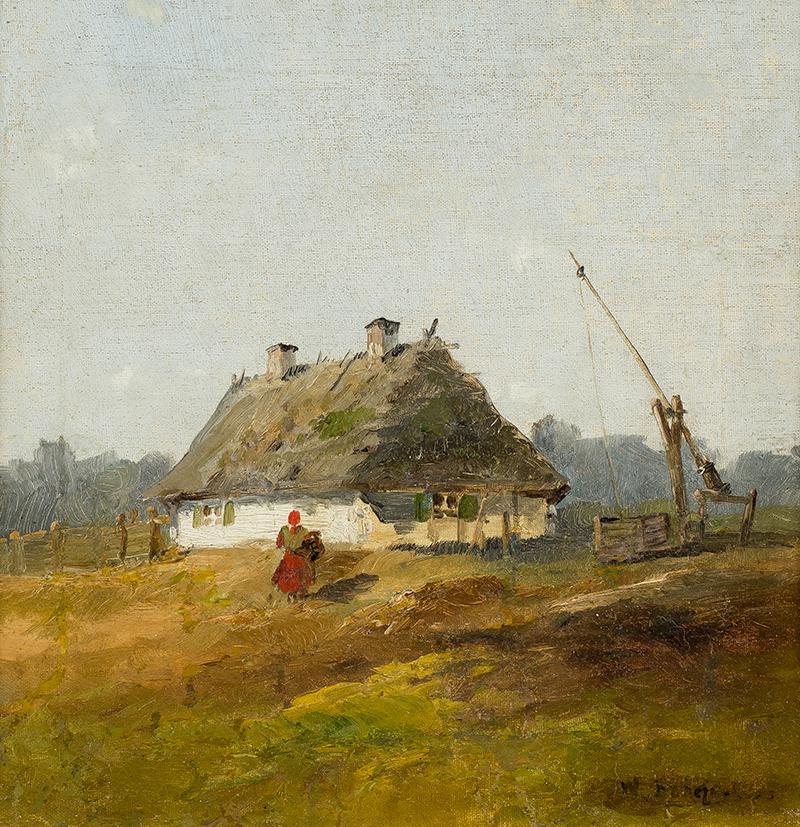 Przed chatą, k. XIX w.