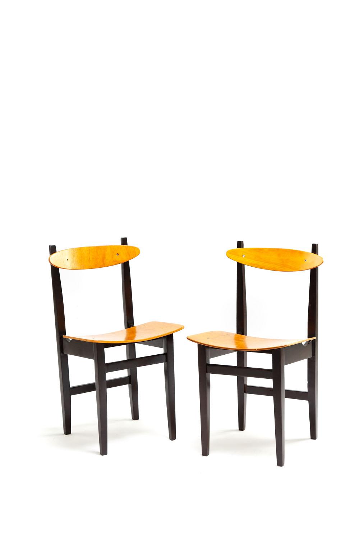 Para krzeseł, typ 200-102, lata 50. - 60. XX w.