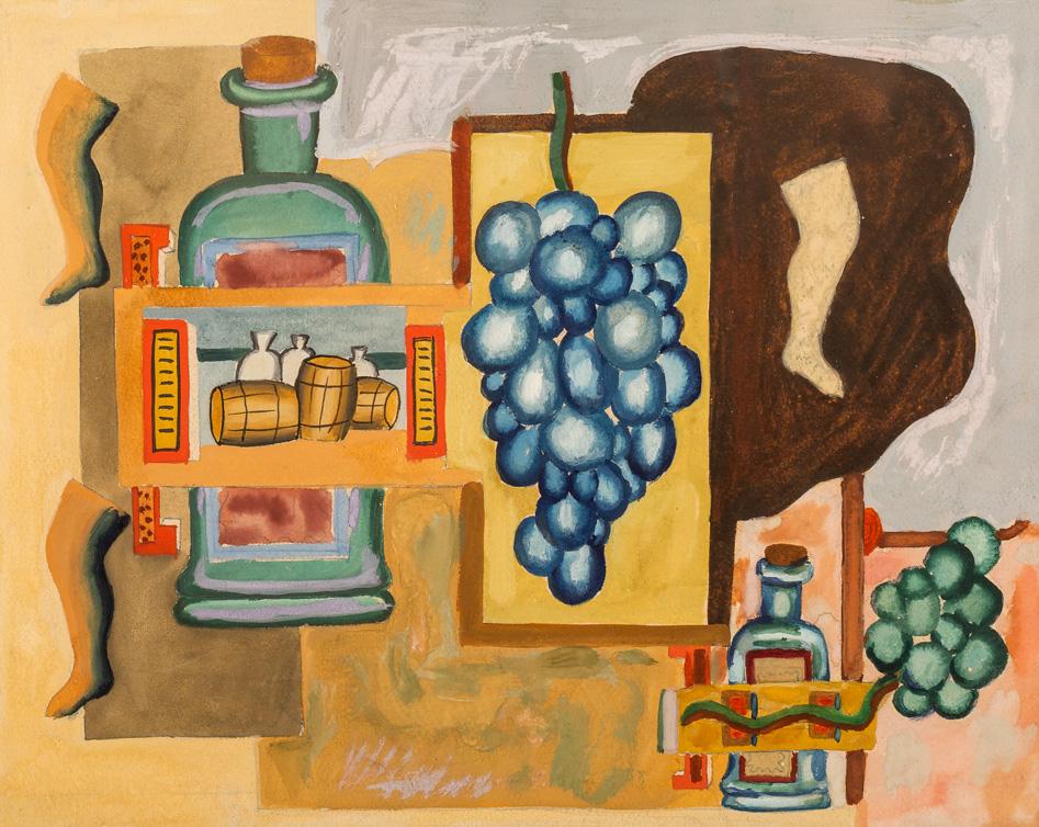 Winogrona i przedmioty, 1929
