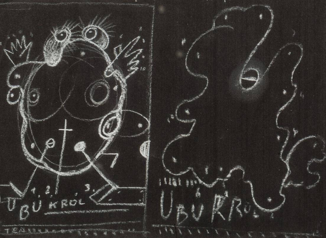 Król Ubu - projekty plakatu (praca dwustronna)