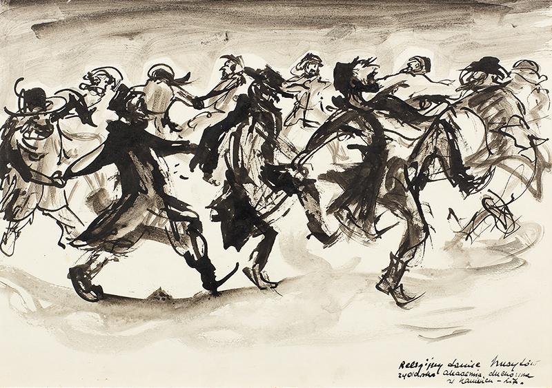 Religijny taniec hasydów