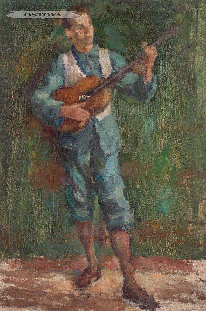 PORTRET MALARZA JULIUSZA STUDNICKIEGO Z GITARĄ, 1932