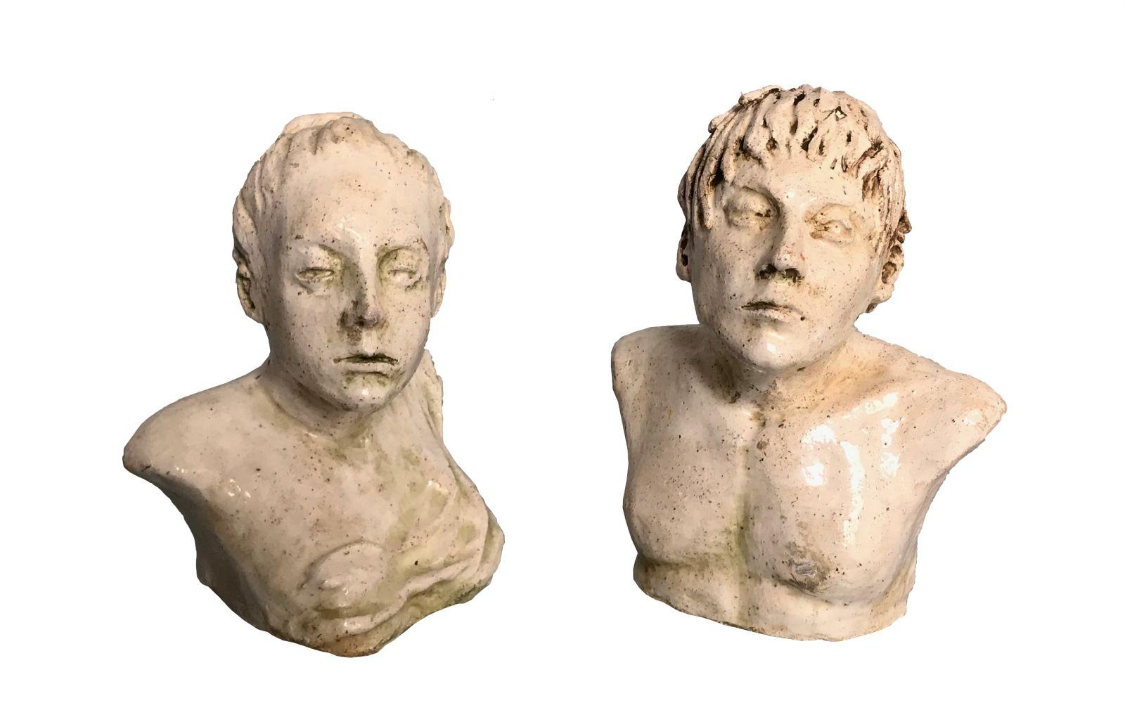 Spartanie - para rzeźb
