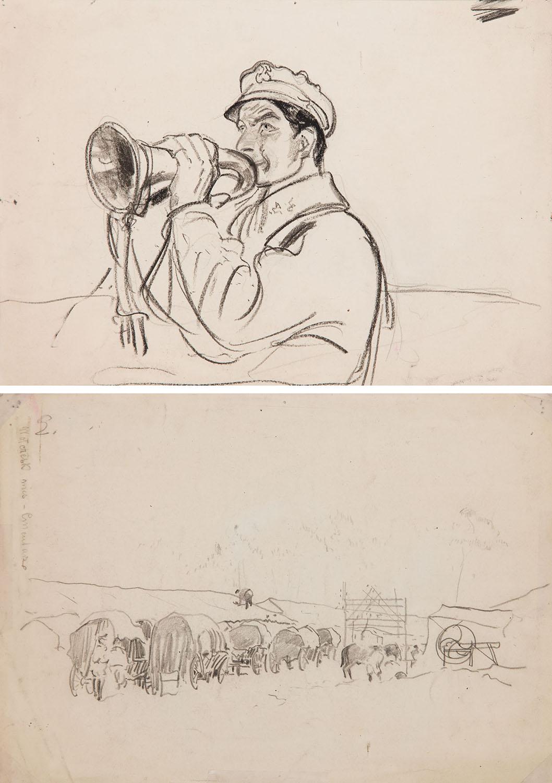 Trębacz (Recto) / Wołczesk wieś - cmentarze (Verso), 1916 r.