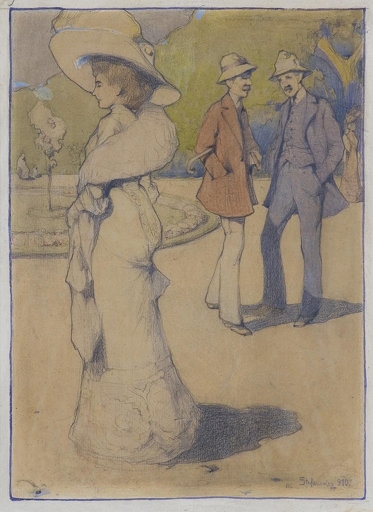 W PARKU, 1910