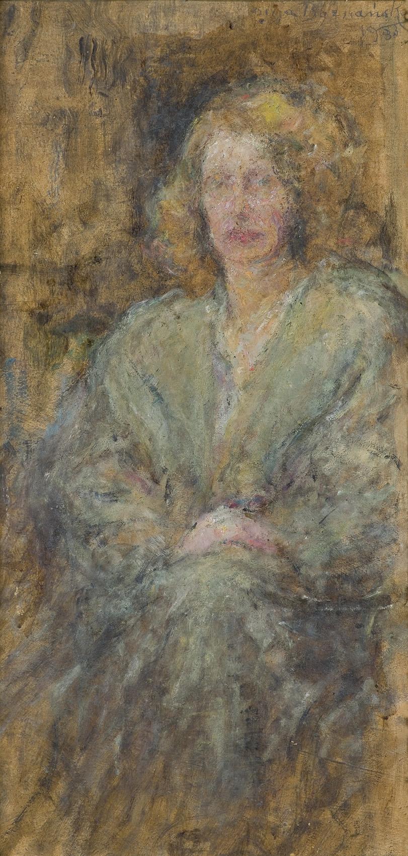 PORTRET LEKARKI DR JANINY ROMANOWEJ, 1933