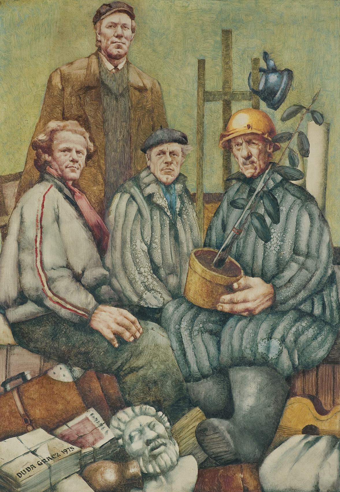 ZAWODOWCY, z cyklu MOTYWY I PORTRETY POLSKIE, 1975