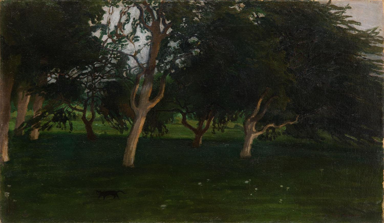 """""""Zmrok w sadzie"""", 1909"""