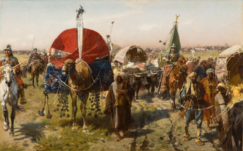 Pochód z łupami - powrót z wyprawy wiedeńskiej, około 1883-84