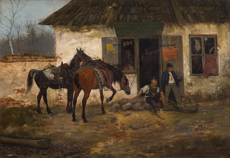 Przed karczmą, 1880