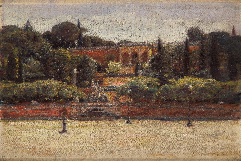 """Piazza del Popolo w Rzymie, studium (""""Pincio Roma""""), 1899"""