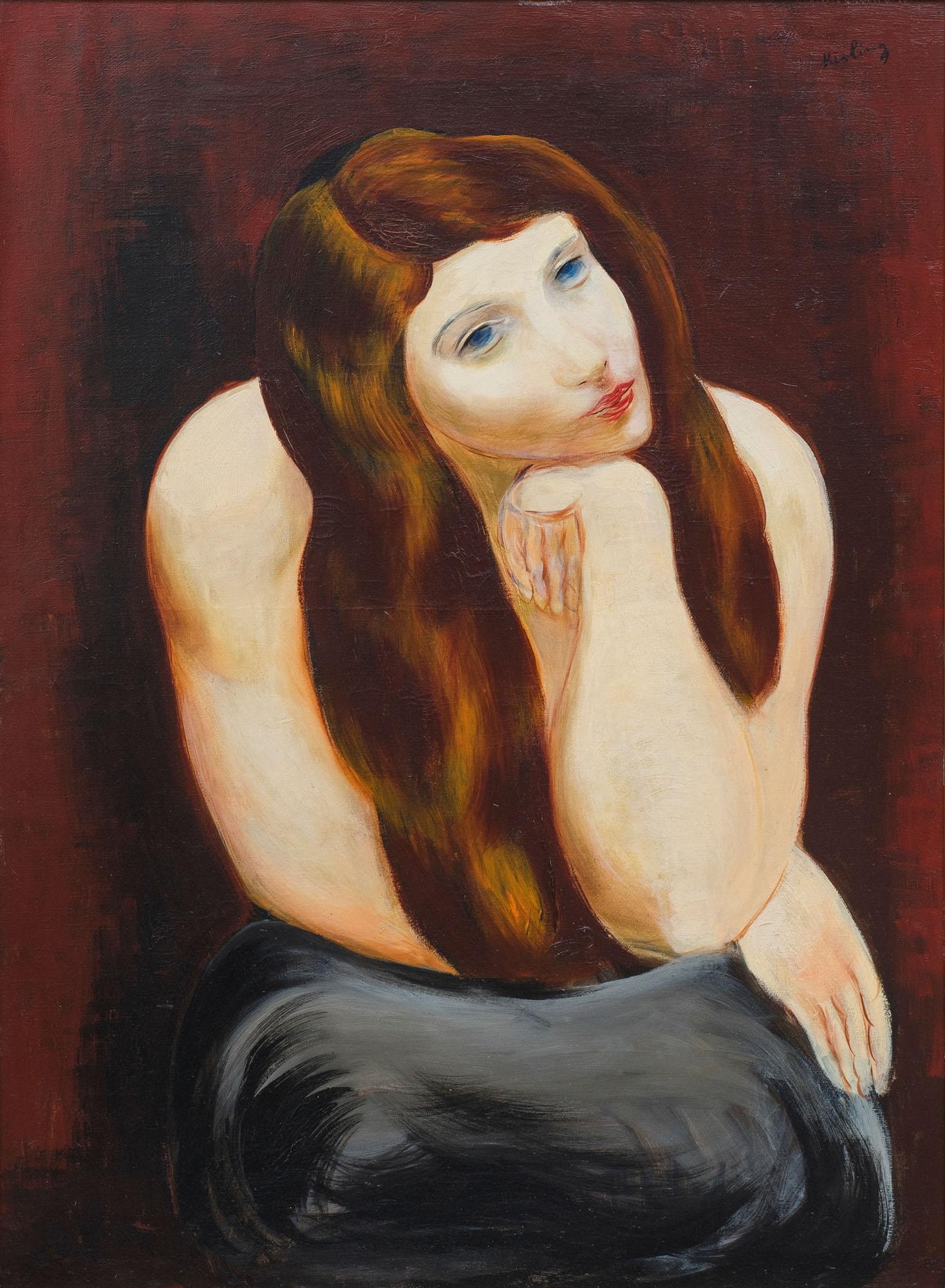 Siedząca dziewczyna