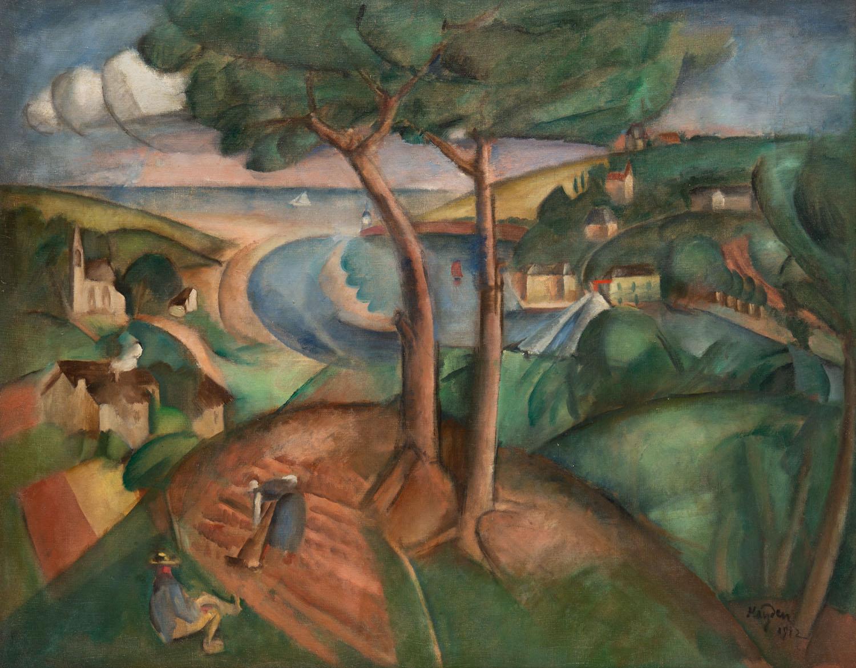 Pejzaż z ujściem rzeki, 1912