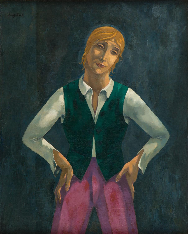 """""""Chłopiec w zielonej kamizelce"""", 1919"""