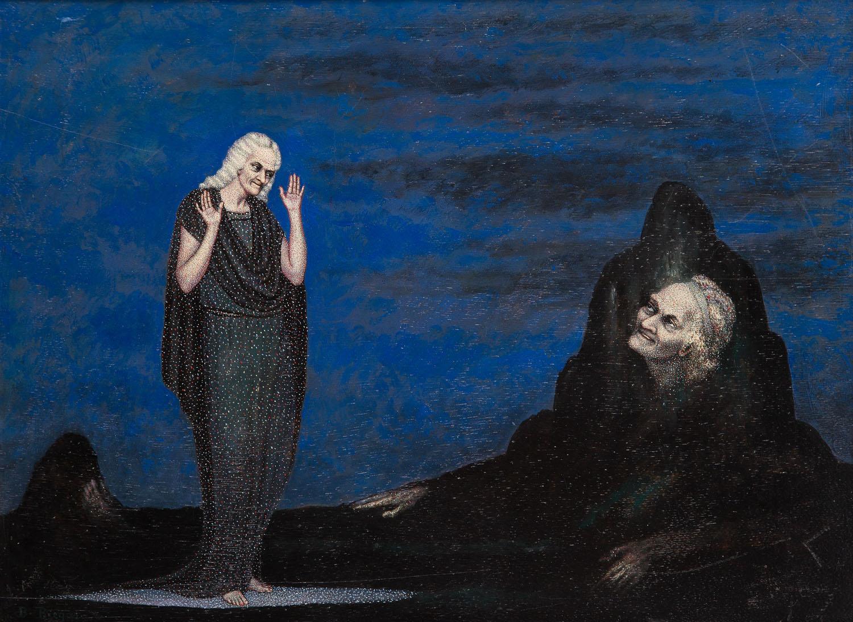 """""""Voltaire"""", z cyklu """"Sławni ludzie"""", 1928-29"""