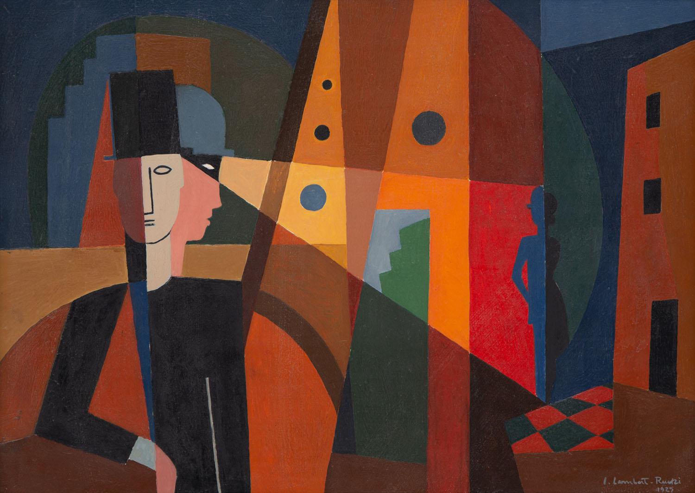 Kompozycja kubistyczna z postaciami, 1925