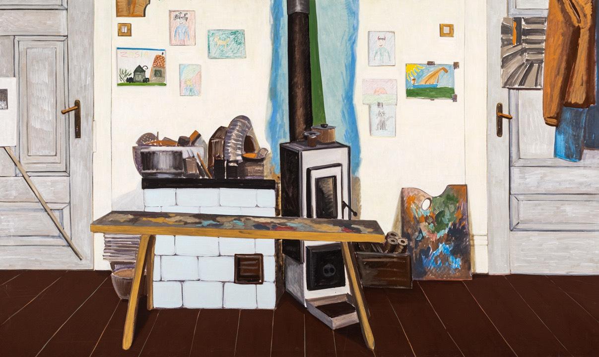 Martwa natura z pochlapaną ławką, 2001