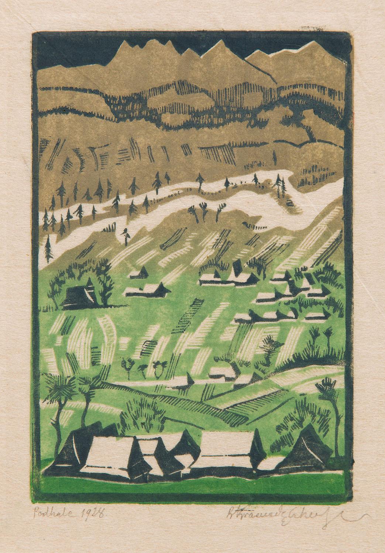 """Podhale (Widok ze Szlembarku)"", 1928"