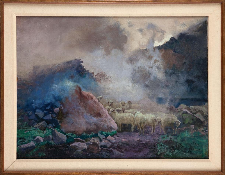 """""""Tatry. Stary szałas w Dolinie Pięciu Stawów"""", 1917"""