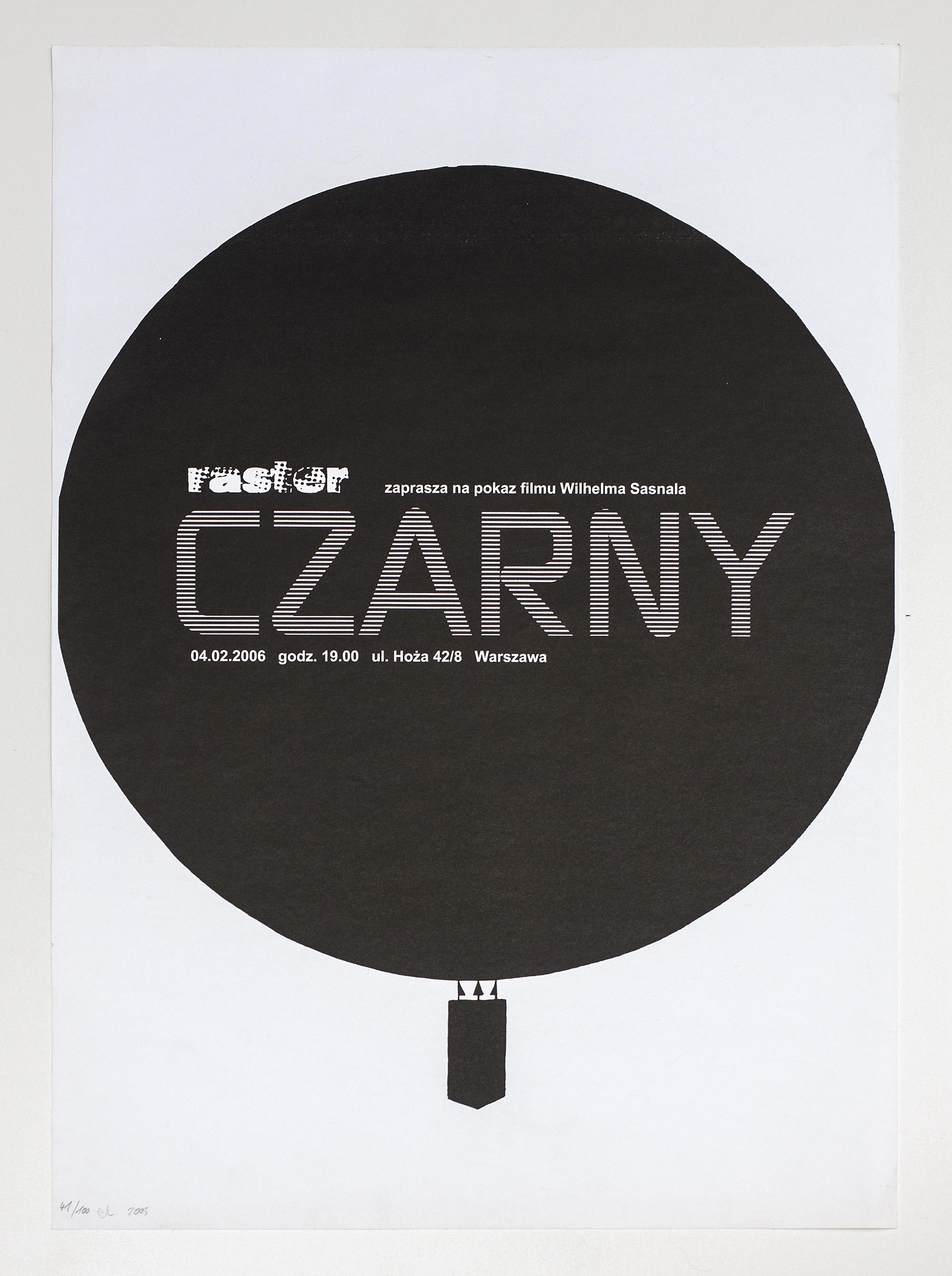Plakat [Czarny], 2003
