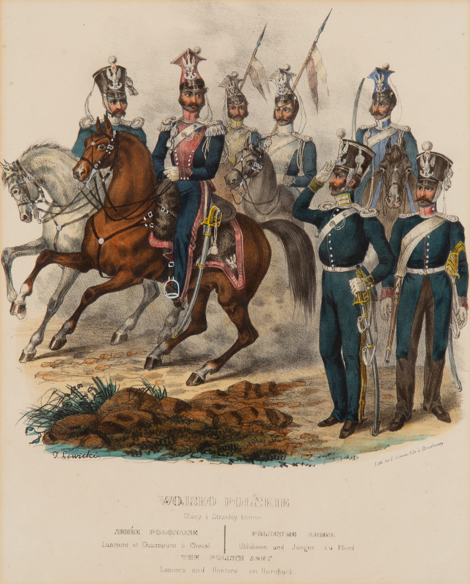Wojsko Polskie. Ułany i strzelce konne, 1841