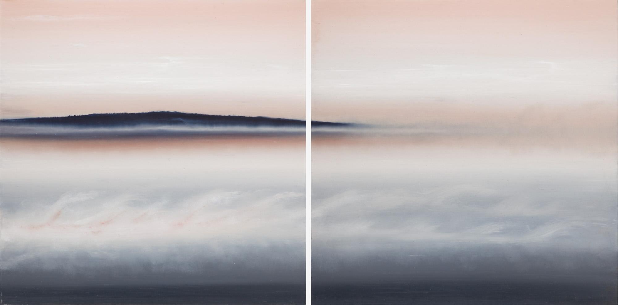 Cisza, dyptyk, 2019