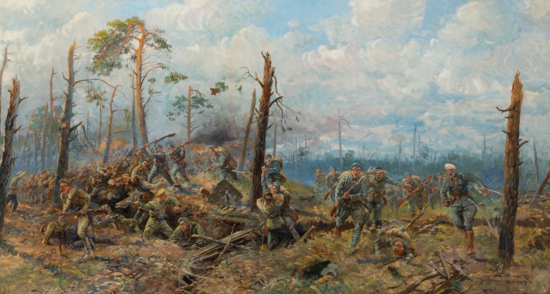 Starcie (Polskie oddziały atakują pozycje rosyjskie - epizod z pierwszej wojny światowej), 1919