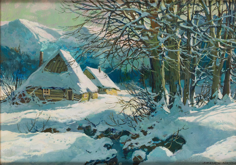 Zimowy widok tatrzański, 1984