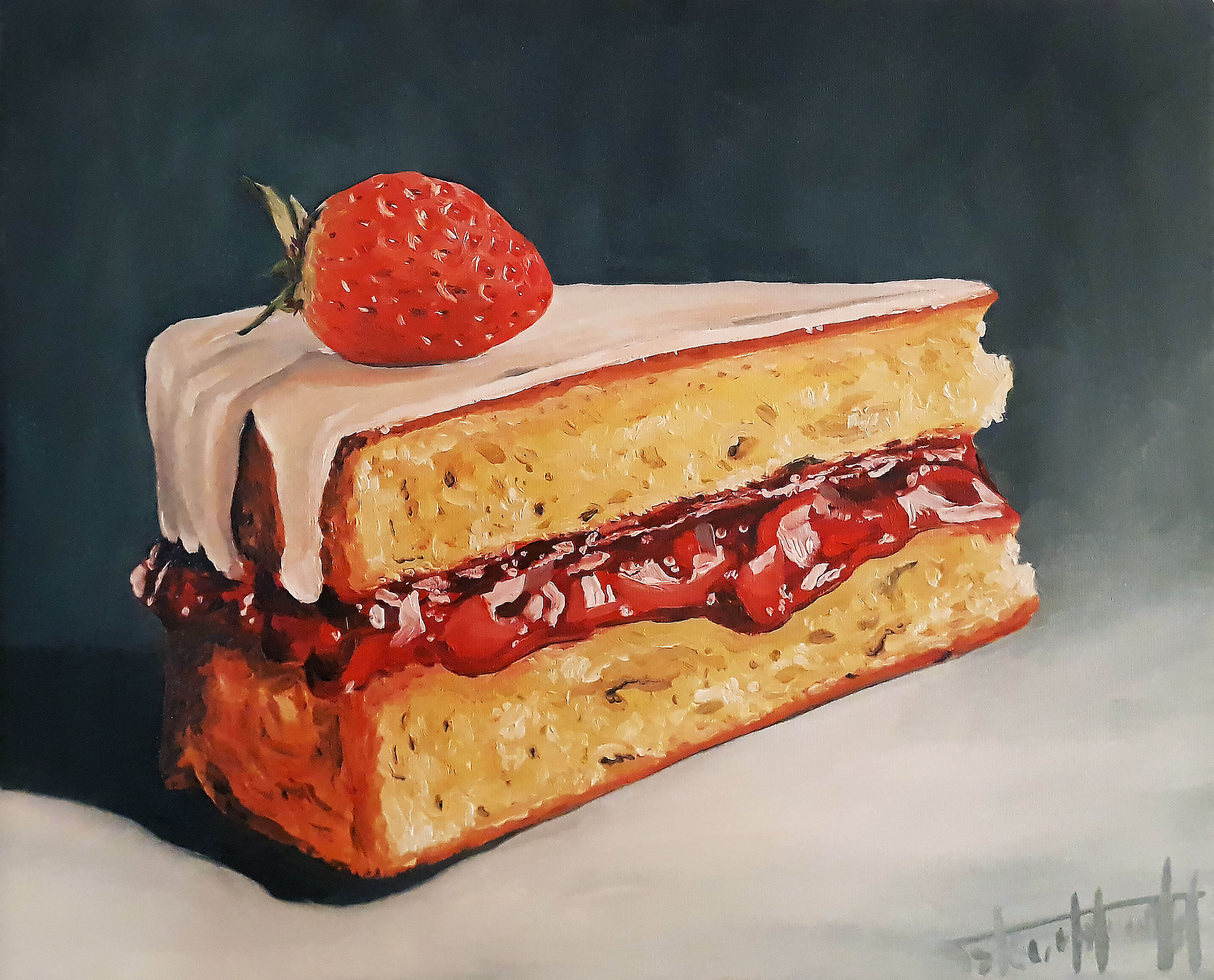Strawberry cake, 2019