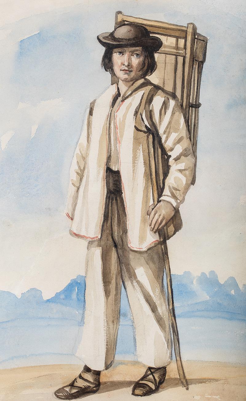 Młody góral z koszem na plecach, około 1835 - 1840 r.
