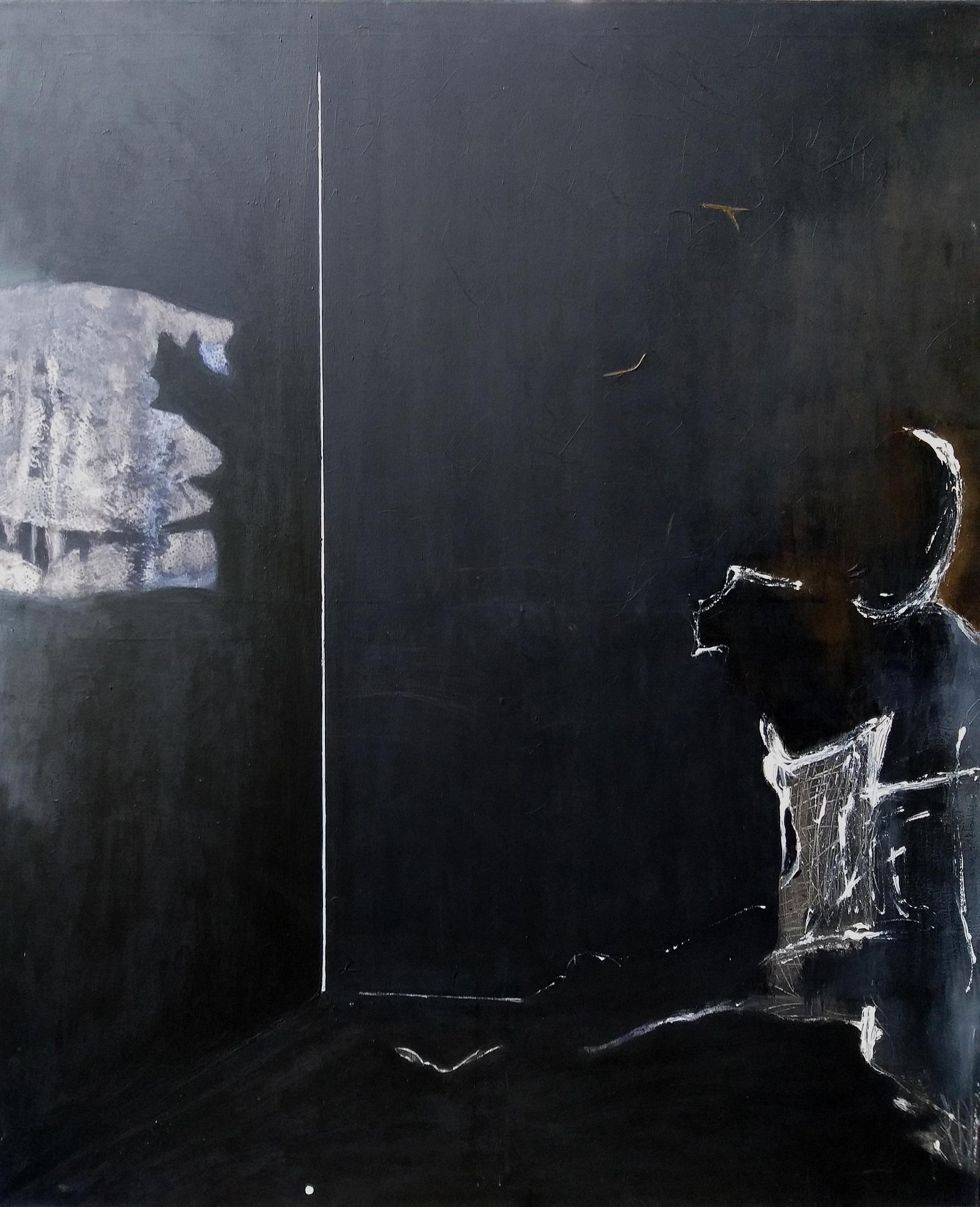 W czarnym pokoju, z cyklu Zasłony, 2013