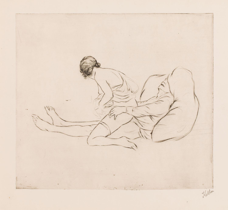 Scena erotyczna, około 1920