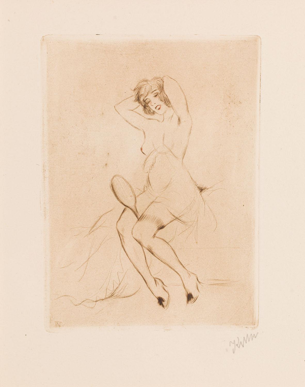 """""""Dziewczyna z lusterkiem"""" z cyklu """"W buduarze"""", 1920"""