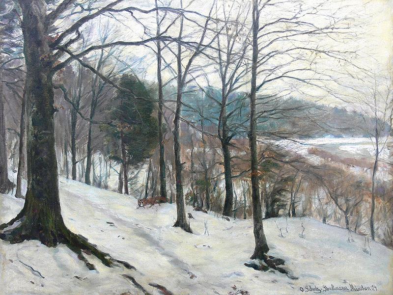 Pejzaż zimowy, 1924 r.