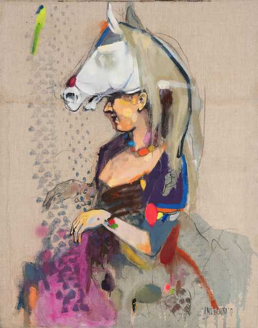 """Obraz z cyklu """"Powrót do lat 30"""", 2017"""