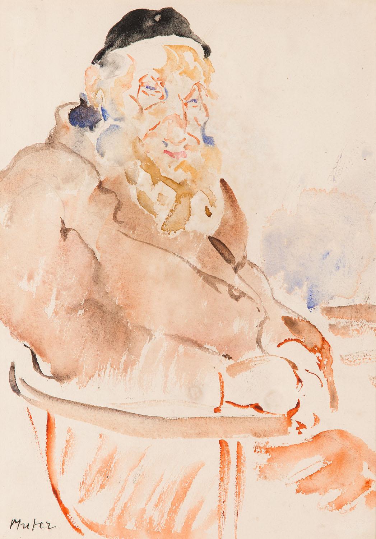Portret rabina Isaïe Schwartz'a, około1919