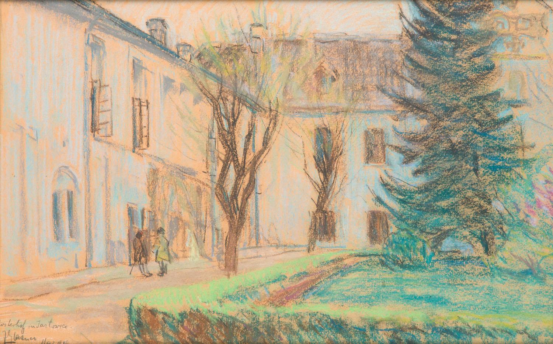 Dziedziniec klasztorny w Rozwadowie, 1916