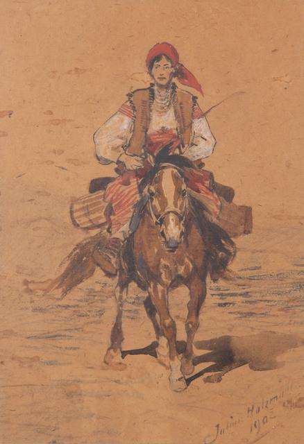 Hucułka na koniu, 1902