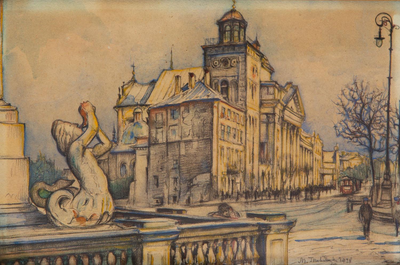 Widok na Krakowskie Przedmieście, 1928