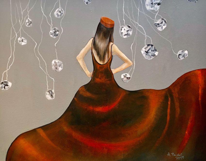Czerwona suknia II, 2019 r.