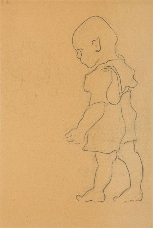 Idący chłopczyk, 1949